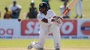 Kusal Mendis crunches one through the off side