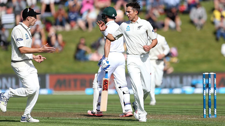 Trent Boult gave New Zealand their first breakthrough