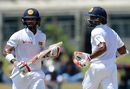 Kusal Mendis and Niroshan Dickwella added a brisk 110 for the fifth wicket, Sri Lanka v Bangladesh, 1st Test, Galle, 2nd day, March 8, 2017
