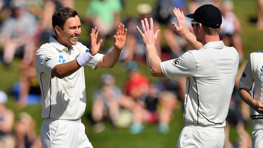 Trent Boult's heavy workload was rewarded before lunch