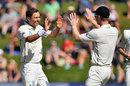 Trent Boult's heavy workload was rewarded before lunch, New Zealand v South Africa, 1st Test, Dunedin, 2nd day, March 9, 2017
