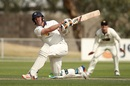 Chris Tremain unleashes a slog sweep, Victoria v Western Australia, Sheffield Shield 2016-17, 2nd day, Alice Springs, March 9, 2017