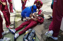 Evin Lewis required treatment after slipping over the boundary, West Indies v England, 3rd ODI, Barbados, March 9, 2017