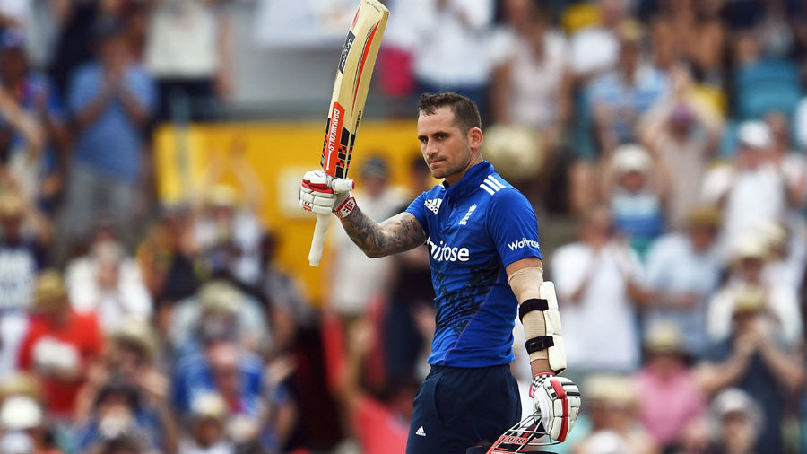 Alex Hales acknowledges his fifth ODI hundred