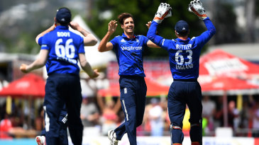 Steven Finn struck in his first over