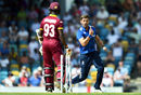 Liam Plunkett bowled Jason Mohammed as West Indies' slump continued, West Indies v England, 3rd ODI, Barbados, March 9, 2017