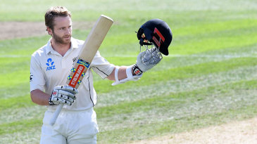 Kane Williamson reached his 16th Test century