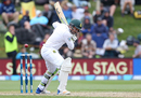 Dean Elgar lets one go through to the wicketkeeper, New Zealand v South Africa, 1st Test, Dunedin, 3rd day, March 10, 2017