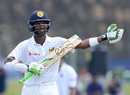 Upul Tharanga gestures after bringing up his century, Sri Lanka v Bangladesh, 1st Test, Galle, 4th day, March 10, 2017