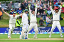 Dean Elgar's caught behind decision was overturned on review in the last over before tea, New Zealand v South Africa, 1st Test, Dunedin, 3rd day, March 11, 2017