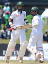 Mushfiqur Rahim and Liton Das run between the wickets, Sri Lanka v Bangladesh, 1st Test, Galle, 5th day, March 11, 2017