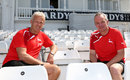 Peter Moores, Nottinghamshire's coaching consultant, (left) with director of cricket Mick Newell at Trent Bridge, July 3, 2015
