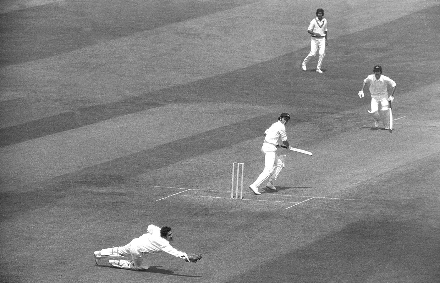 Wasim Bari does his thing against Australia in the 1975 World Cup