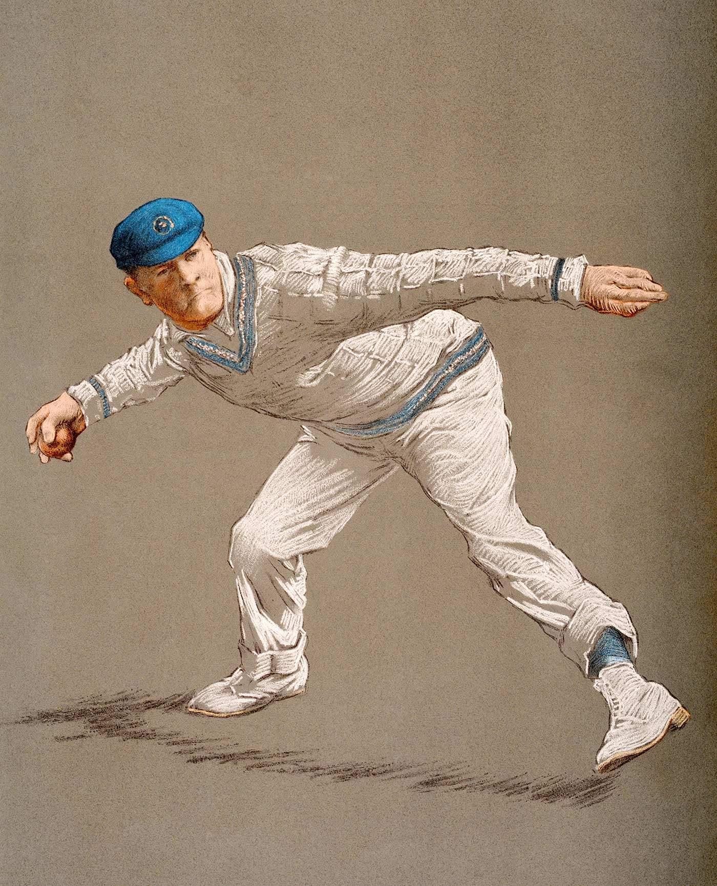 Gilbert Jessop was known as The Croucher for his stance at the crease (and possibly for his predatory fielding)