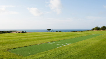 An artificial pitch on Herm Island, part of Channel Islands