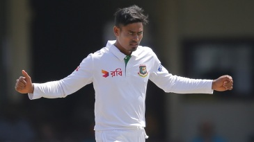 Taijul Islam celebrates the wicket of Dhananjaya de Silva