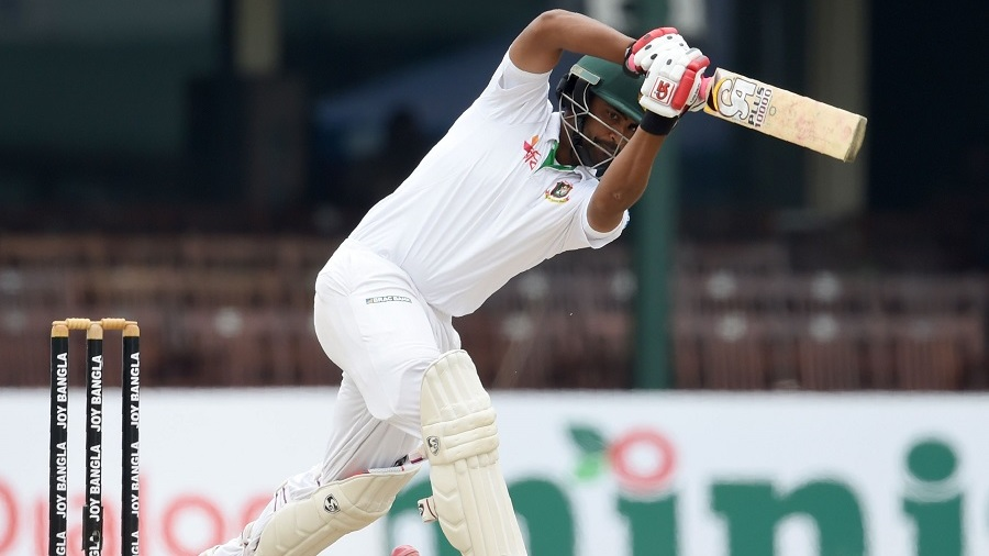 Tamim Iqbal leans into a shot