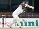 Tamim Iqbal leans into a shot, Sri Lanka v Bangladesh, 2nd Test, Colombo, 2nd day, March 16, 2017