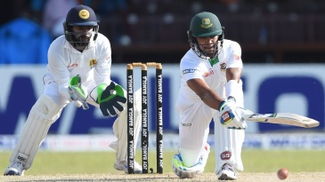 Sabbir Rahman executes a sweep