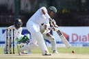 Soumya Sarkar crunches a drive, Sri Lanka v Bangladesh, 2nd Test, Colombo, 2nd day, March 16, 2017