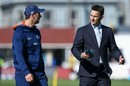 Shane Bond has a chat with Matt Henry, New Zealand v South Africa, 2nd Test, Wellington, 2nd day, March 17, 2016