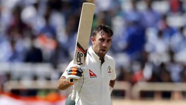 Glenn Maxwell scored his maiden Test hundred