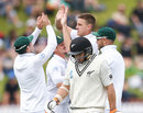 Morne Morkel soon dismissed Tom Latham, New Zealand v South Africa, 2nd Test, Wellington, 3rd day, March 18, 2017