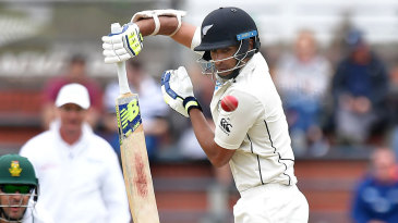 Jeet Raval fends off a short ball
