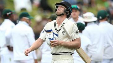 James Neesham cut a dejected figure after his dismissal