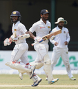 Dimuth Karunaratne and Kusal Mendis run between the wickets, Sri Lanka v Bangladesh, 2nd Test, Colombo, 4th day, March 18, 2017