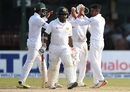 Taijul Islam celebrates with his team-mates after dismissing Rangana Herath, Sri Lanka v Bangladesh, 2nd Test, Colombo, 4th day, March 18, 2017