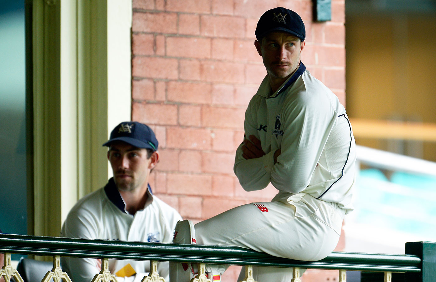 Victoria's captain, Matthew Wade (right), decided to bat Maxwell down the order and Victoria blocked Maxwell's move to NSW