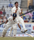 Pat Cummins had Wriddhiman Saha lbw before the decision was overturned, India v Australia, 3rd Test, Ranchi, 4th day, March 19, 2017