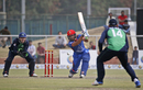 Gulbadin Naib drives one into the off side, Afghanistan v Ireland, 3rd ODI, Greater Noida, March 19, 2017