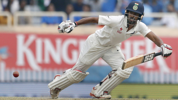 Wriddhiman Saha guides the ball away