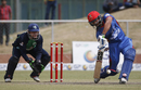 Gulbadin Naib comes down the pitch, Afghanistan v Ireland, 3rd ODI, Greater Noida, March 19, 2017
