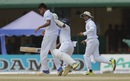 Dilruwan Perera collides with Mustafizur Rahman while running between the wickets, Sri Lanka v Bangladesh, 2nd Test, P Sara Oval, Colombo, 5th day, March 19, 2017