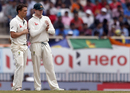 Steve O'Keefe and Steven Smith have a chat, India v Australia, 3rd Test, Ranchi, 4th day, March 19, 2017