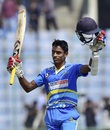 Abhimanyu Easwaran struck a match-winning ton, Bengal v Jharkhand, Vijay Hazare Trophy, semi-final, Delhi, March 18, 2017