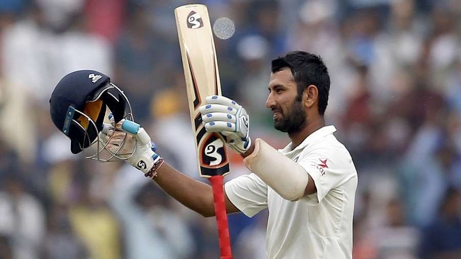 Which recent Indian cricketer does Pujara remind you of?