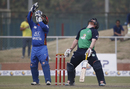 Paul Stirling and Mohammad Shahzad react similarly after a close chance, Afghanistan v Ireland, 3rd ODI, Greater Noida, March 19, 2017