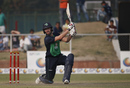 Andy Balbirnie hits one over the infield on the off side, Afghanistan v Ireland, 3rd ODI, Greater Noida, March 19, 2017