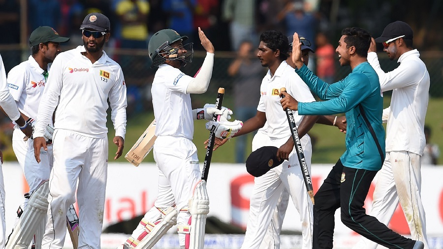 Bangladesh celebrate their landmark victory