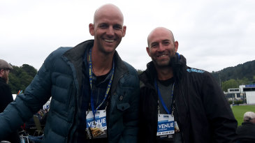Anton Roux, Otago's assistant coach, and Rob Walter, the head coach in Dunedin