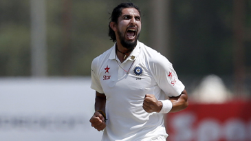 Ishant Sharma exults after taking a wicket
