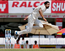 Ishant Sharma is air borne in his follow through, India v Australia, 3rd Test, Ranchi, 5th day, March 20, 2017