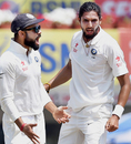 Virat Kohli and Ishant Sharma celebrate a wicket, India v Australia, 3rd Test, Ranchi, 5th day, March 20, 2017