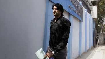 Mohammad Irfan appears at the Federal Investigation Authority to record his statements