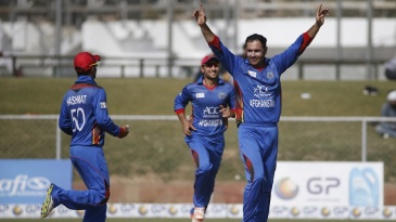 Mohammad Nabi's regular wickets troubled Ireland