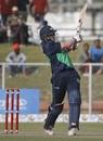 Kevin O'Brien pulls the ball away, Afghanistan v Ireland, 4th ODI, Greater Noida, March 22, 2017